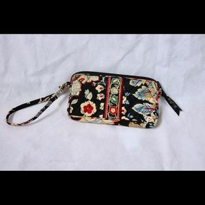 Vera Bradley Paisley Print Zipper Wristlet Wallet